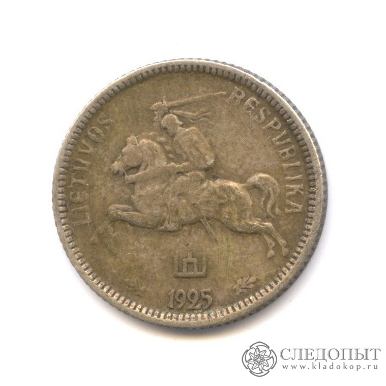 Литовский лит 1925 года 5 рублей 2003 спмд