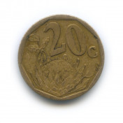 20 центов 2000 года «Новый тип»— ЮАР