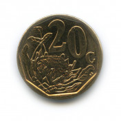20 центов 2012 года (Регулярный выпуск)— ЮАР