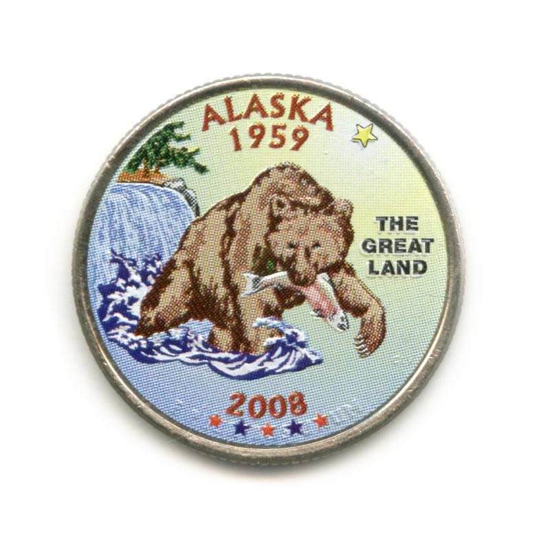25 центов 2008— Квотер штата Аляска
