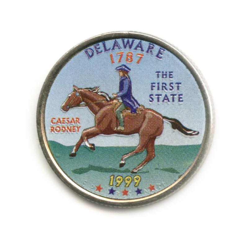 25 центов 1999— Квотер штата Делавэр, вцвете