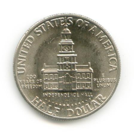 50 центов 1976— 200 лет независимости США D — США