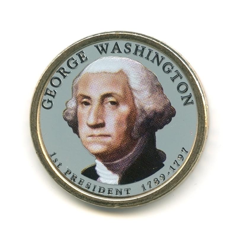 1 доллар 2007— Джордж Вашингтон . 1-ый Президент США.