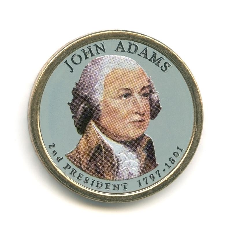 1 доллар 2007— Джон Адамс . 2-ой Президент США.