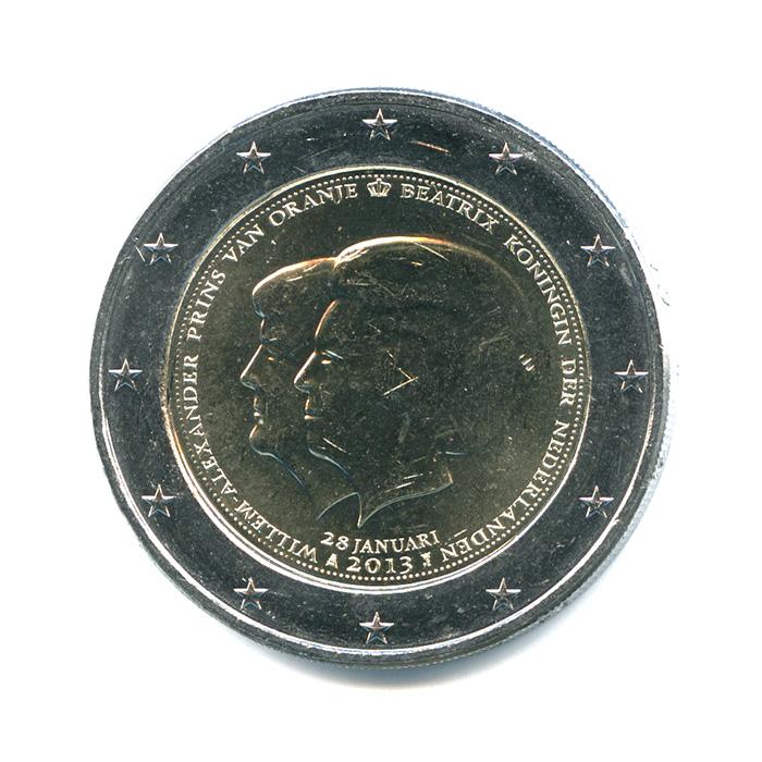 2 евро 2013 — Коронация Короля Виллема-Александра — Нидерланды