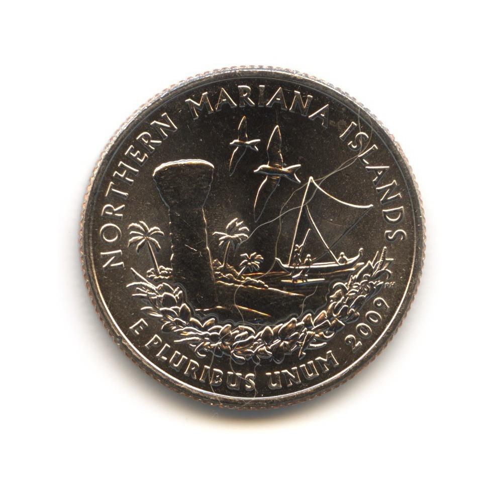 25 центов 2009— Квотер Северных Марианских островов D