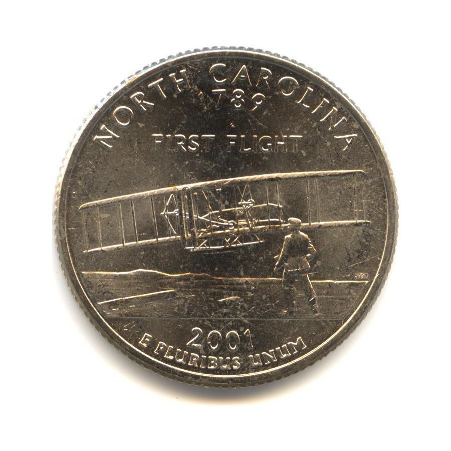 25 центов 2001— Квотер штата Северная Каролина P