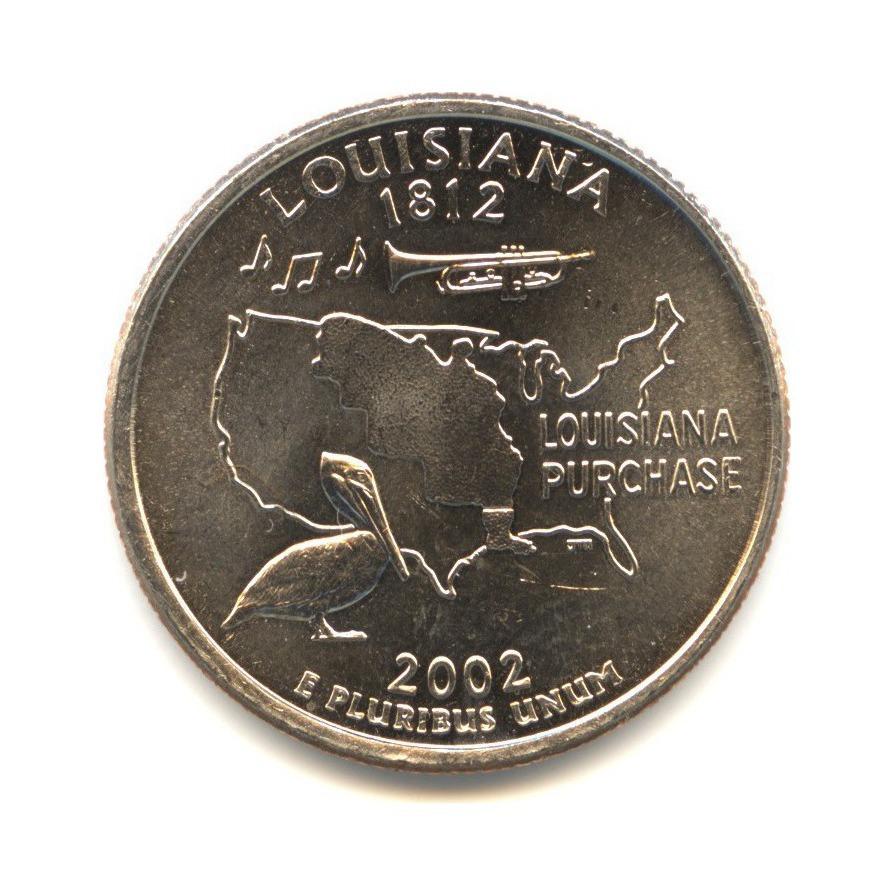 25 центов 2002— Квотер штата Луизиана P