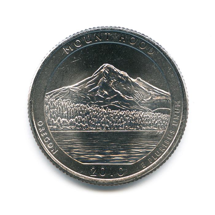 25 центов 2010— Национальный лес Маунд Худ D