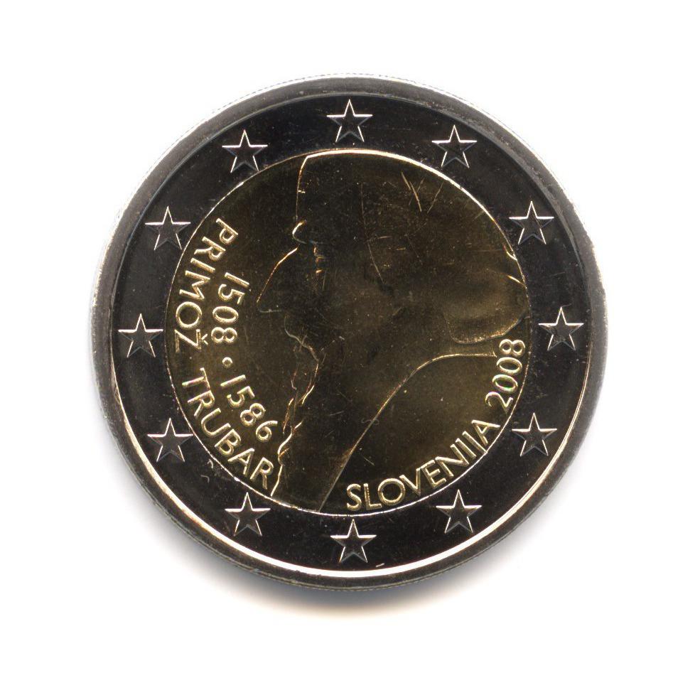 2 евро 2008 — 500 лет содня рождения Приможа Трубара — Словения