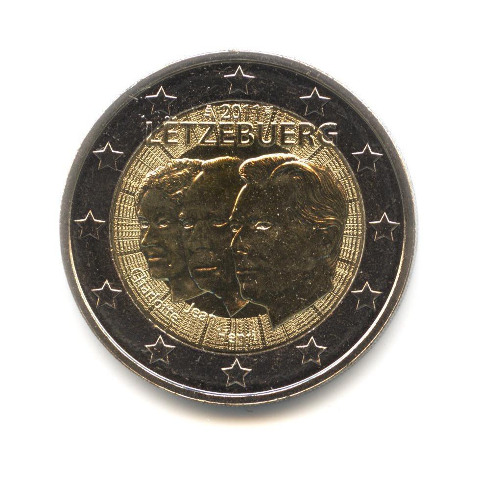 2 евро 2011 — 50 лет назначения Великого герцога Люксембурга Жана титулом «lieutenant-représentant» — Люксембург