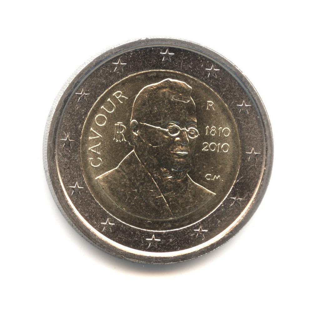 2 евро 2010 — 200 лет со дня рождения Камилло Бенсо ди Кавура — Италия