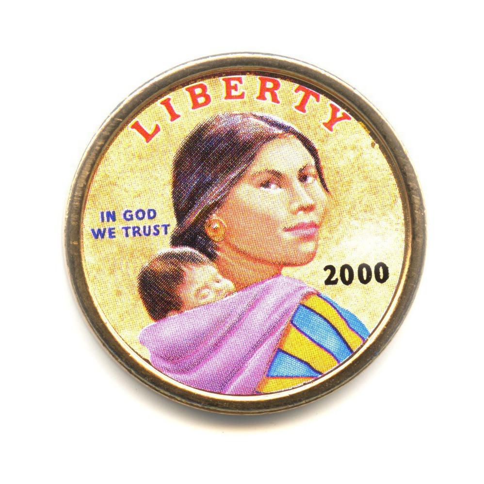 1 доллар 2000— Парящий орел. Коренные Американцы. P — США