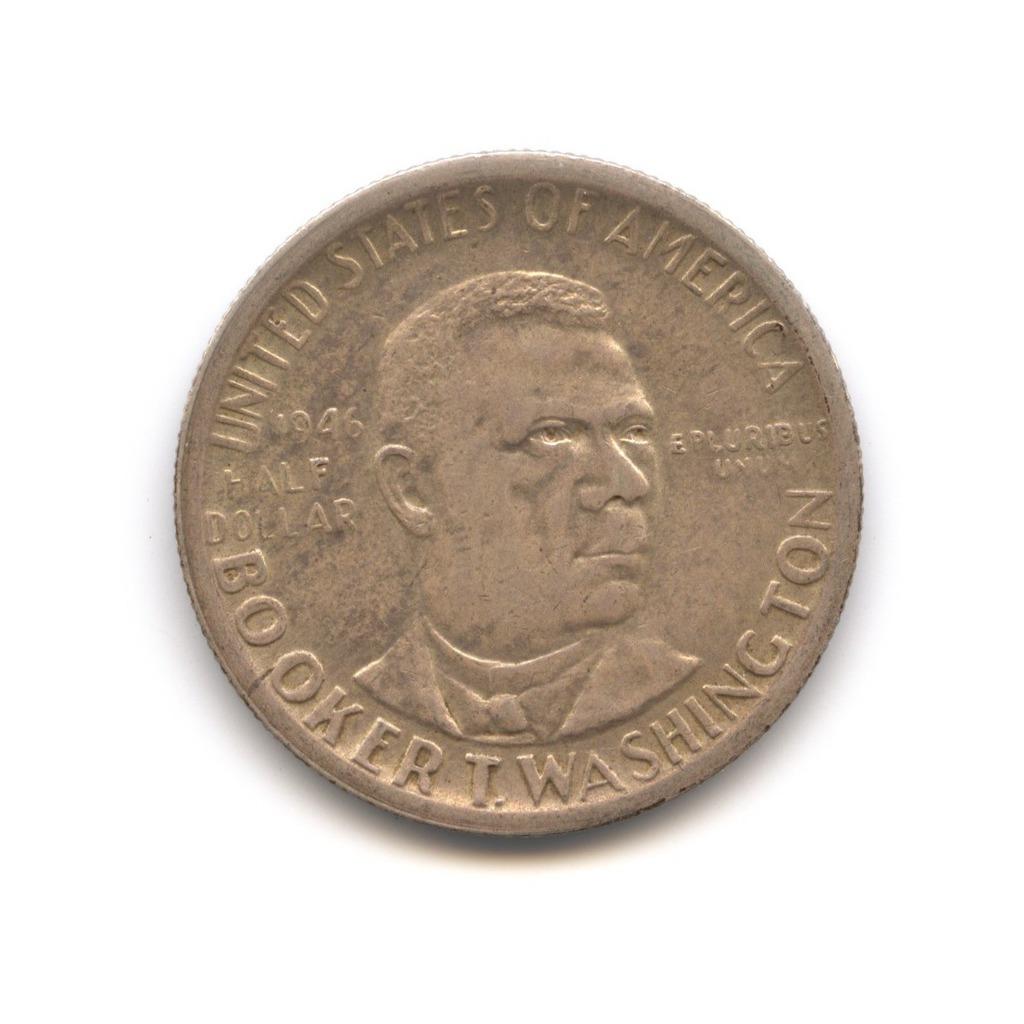 50 центов 1946 года— Букер Вашингтон — США