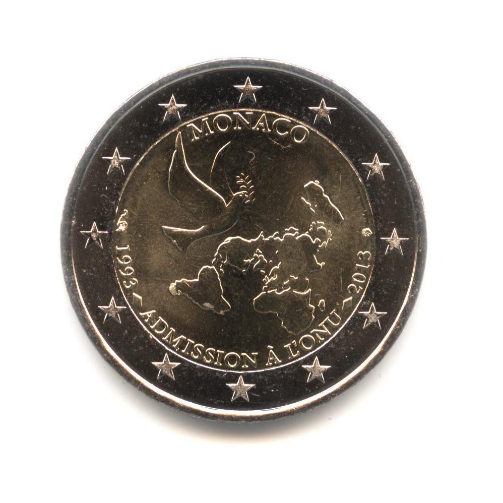 2 евро 2013 — 20 лет вступления вООН — Монако
