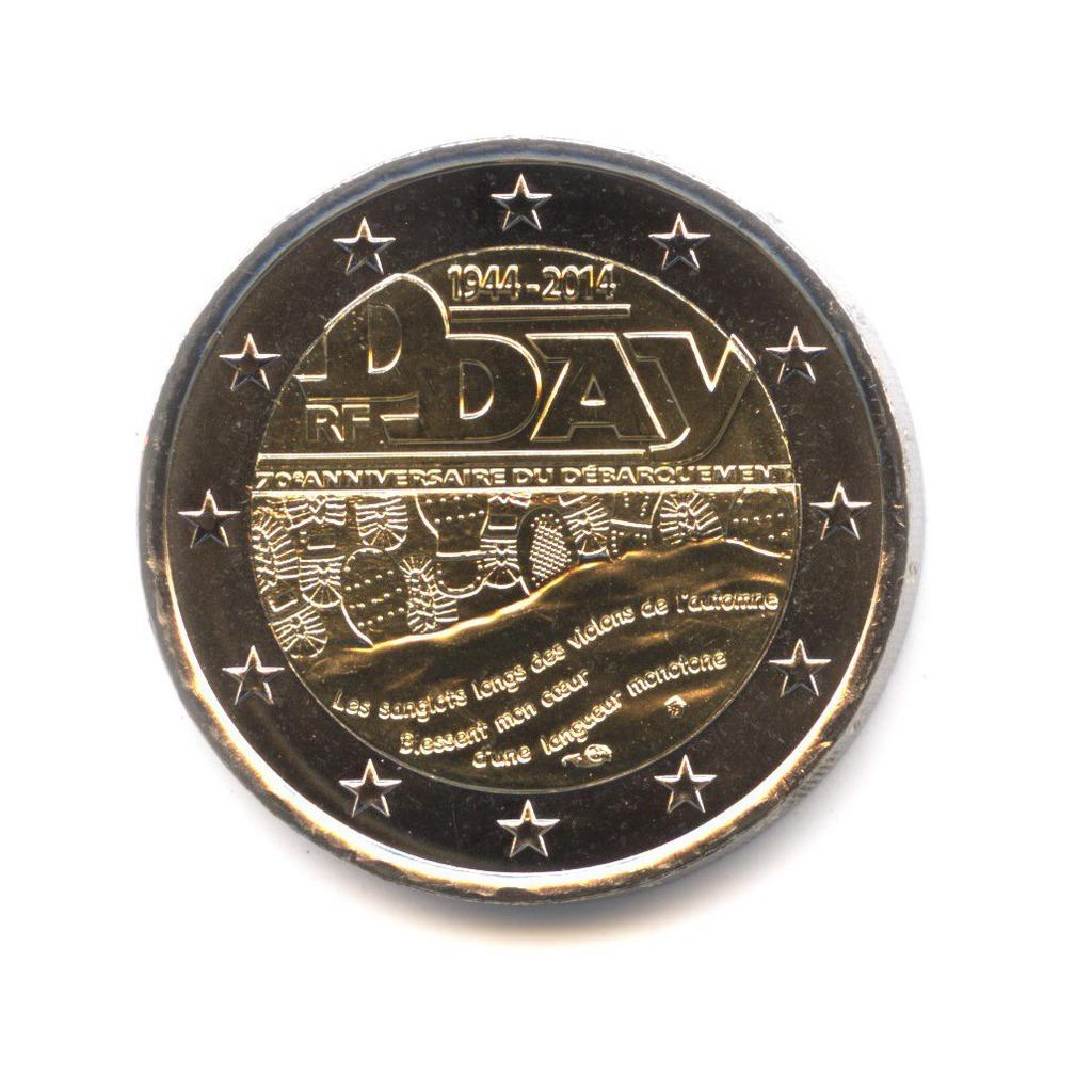 2 евро 2014 — 70 лет высадке в Нормандии — Франция