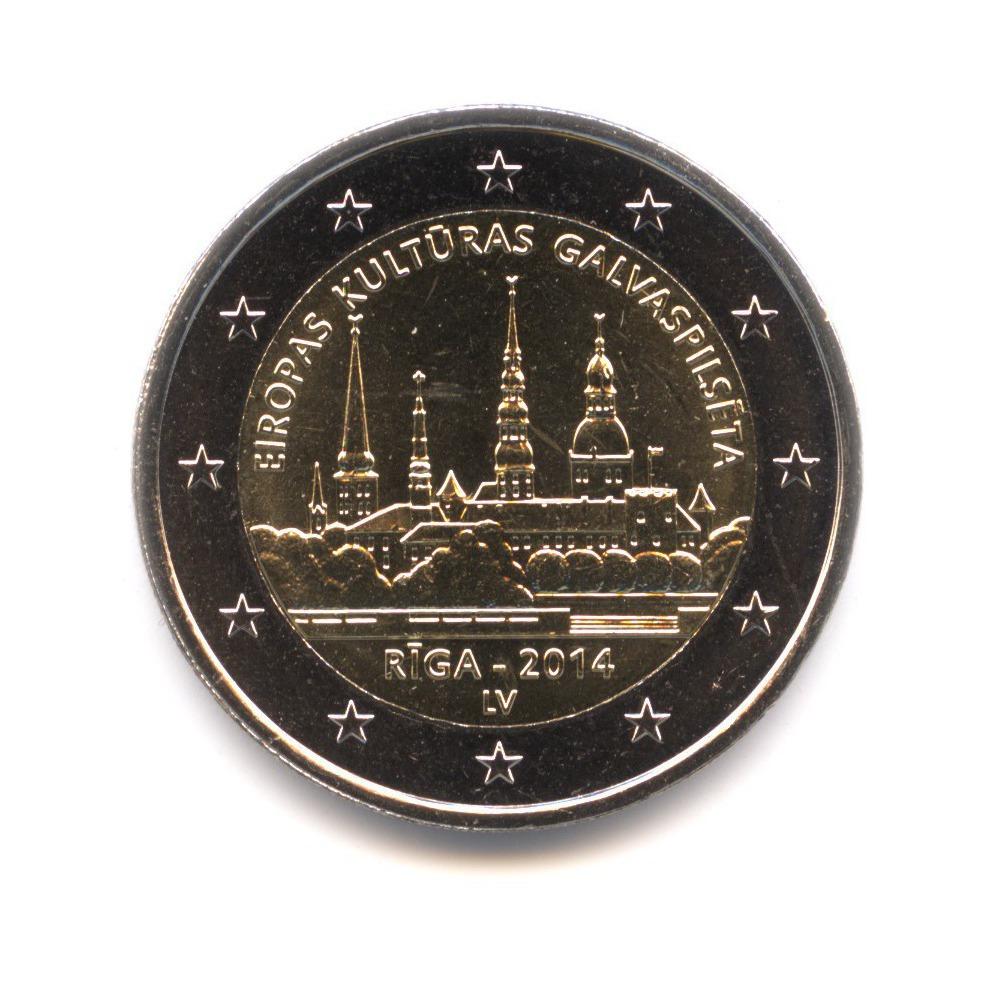 2 евро 2014 — Культурная столица Европы 2014. Рига. — Латвия