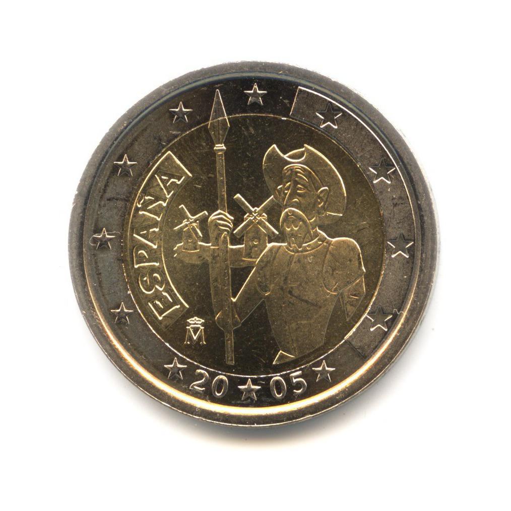 2 евро 2005 — 400 лет издания романа «Дон-Кихот» Мигеля Сервантеса — Испания