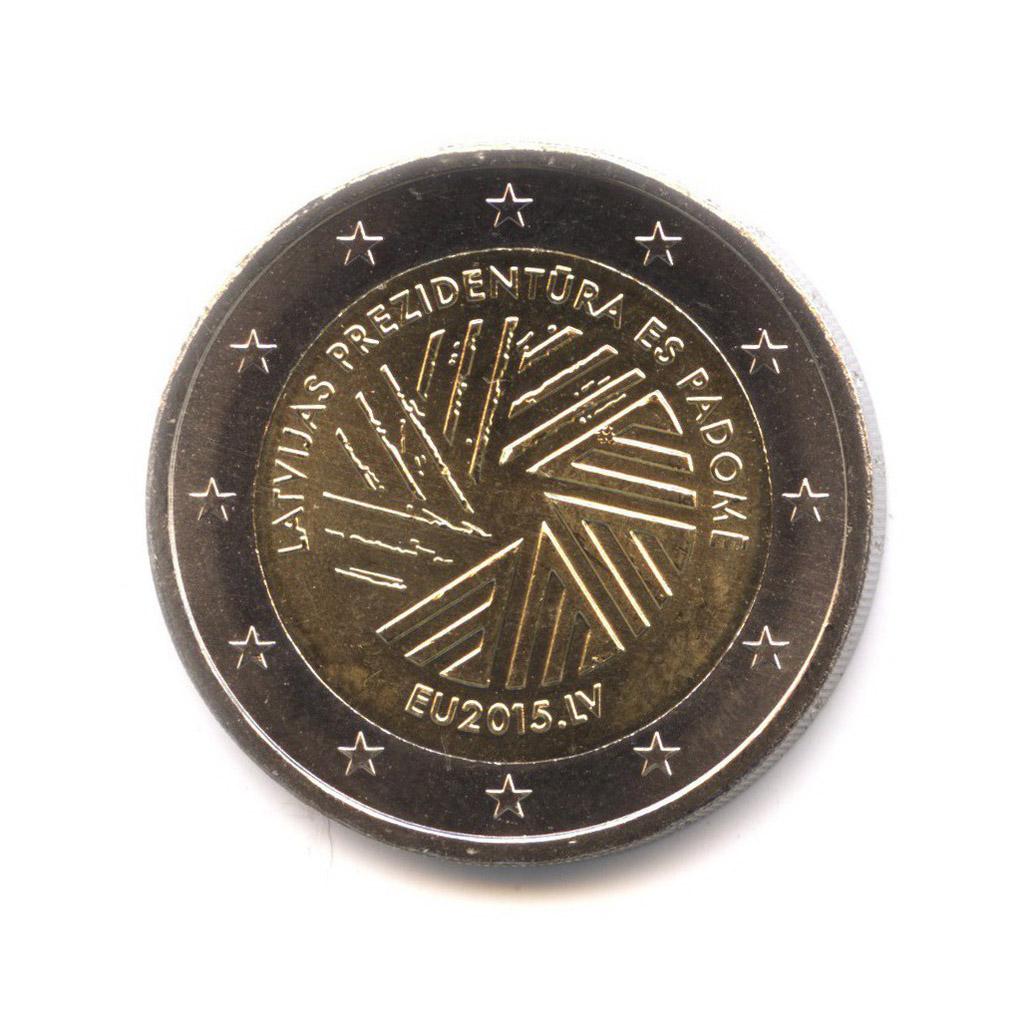 2 евро 2015 — Президентство Латвии в Совете ЕС — Латвия