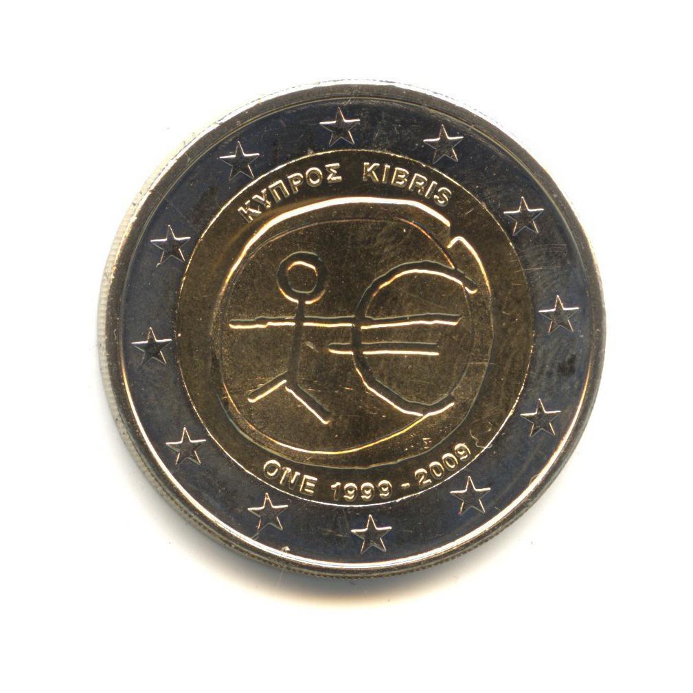 2 евро 2009 — 10-летие монетарной политики ЕС ивведения евро — Кипр