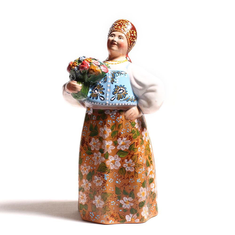 Сувенирная кукла «Барышня сбукетом»