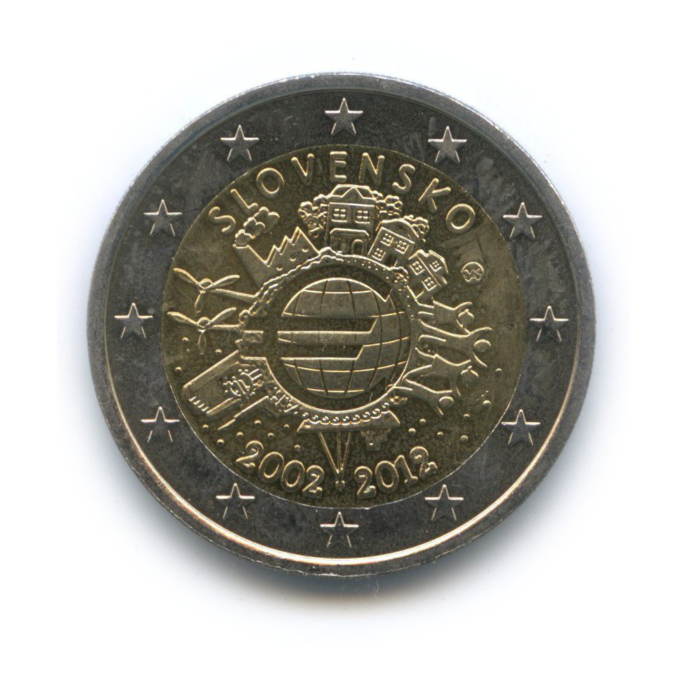 2евро 2012— 10 лет евро наличными — Словакия