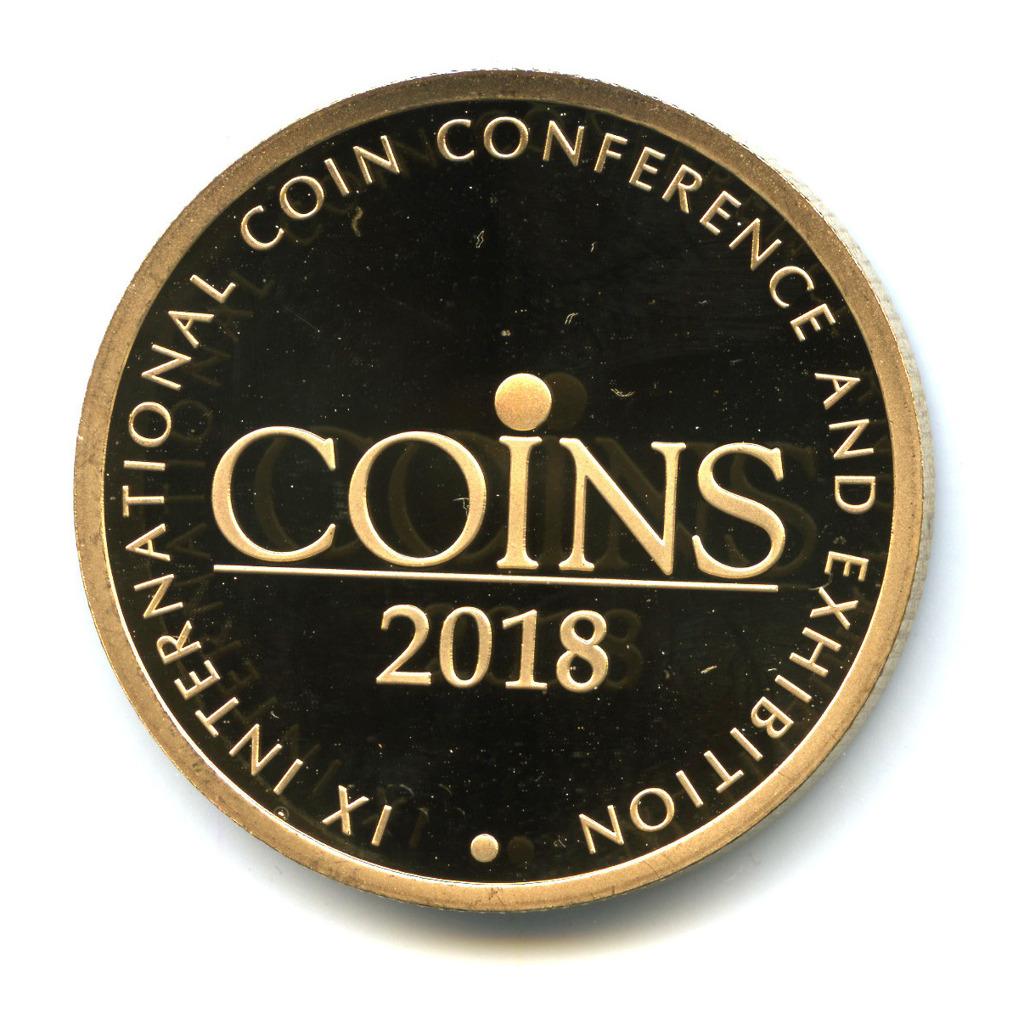 Жетон «Coins 2018»— IXМеждународная нумизматическая конференция вМоскве