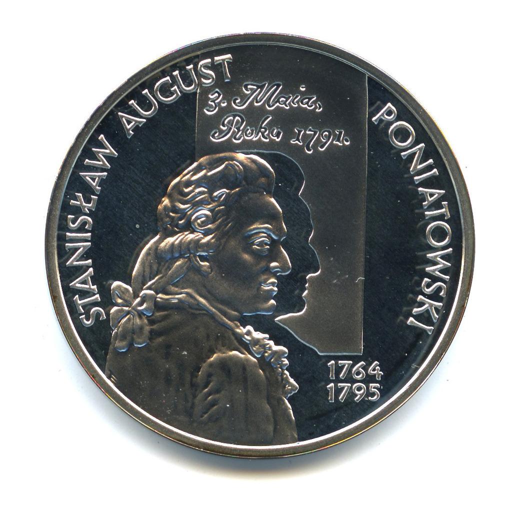 10 злотых 2005— СтаниславII Август Понятовский /маленький портрет/. Польские Короли. — Польша